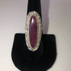 Jewelry - Vintage Navajo sterling silver + purple stone ring